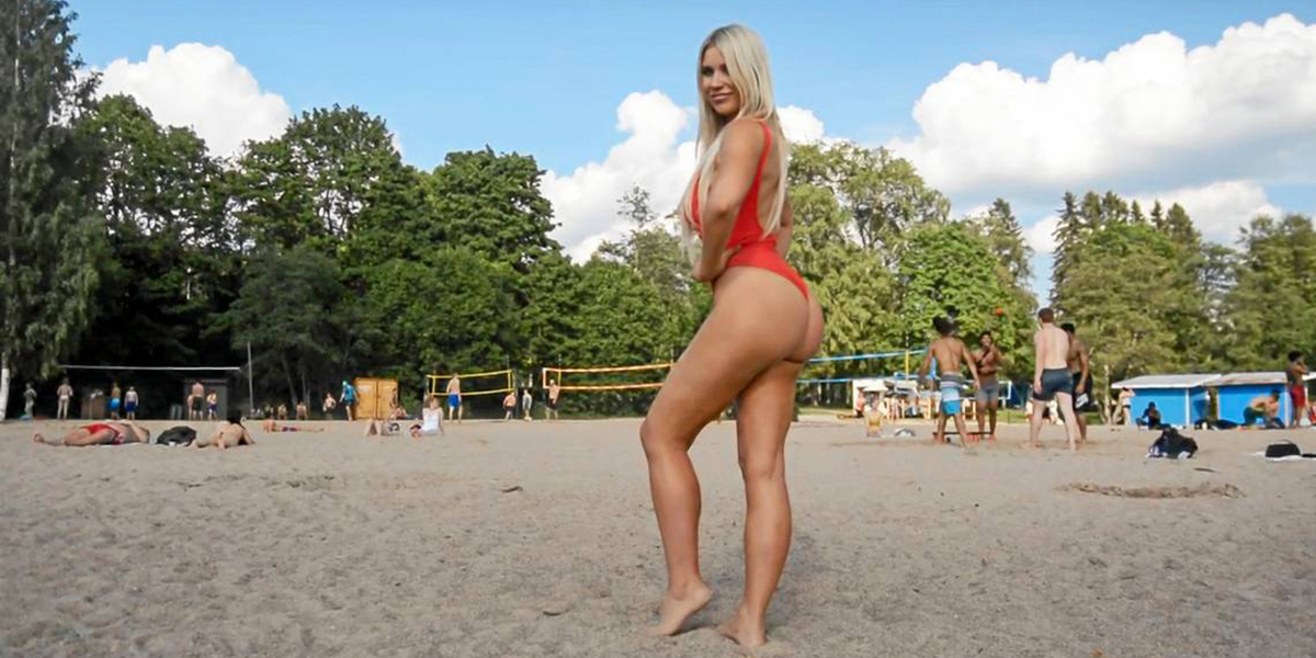 Baywatch-style picture