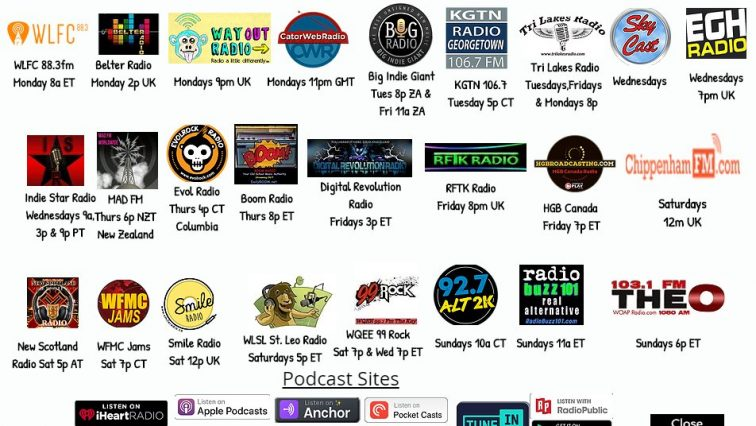 New Music Food Truck station listing