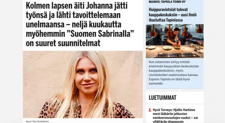Ilta-Sanomat NYE article