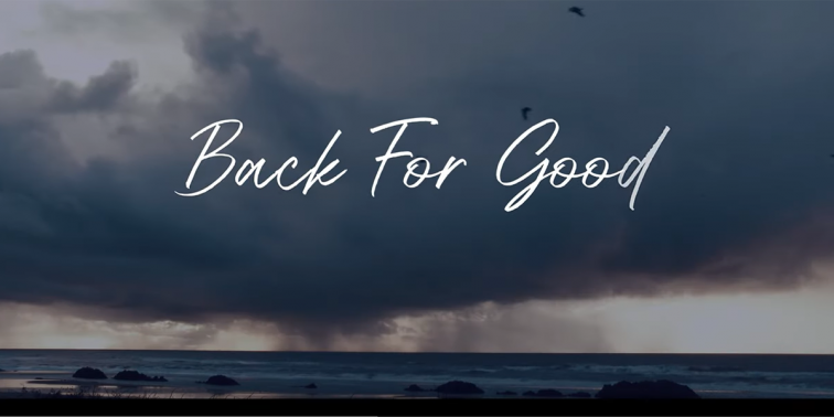 """Back for Good"" lyric video"