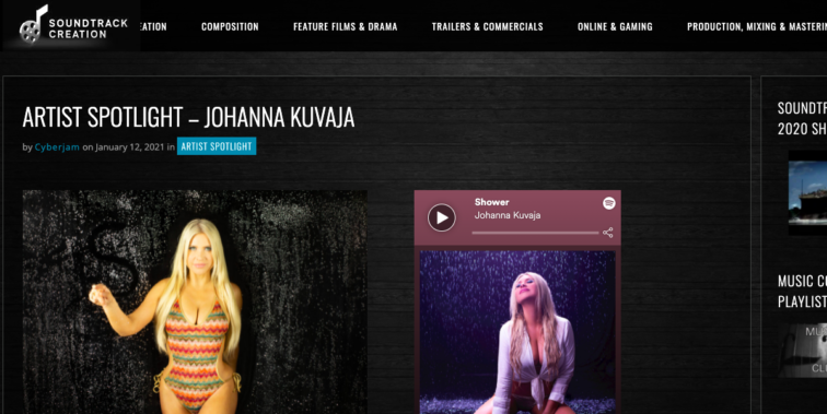 Soundtrack Creation profile
